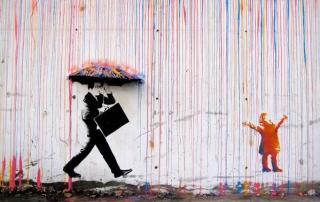 banksy_rain