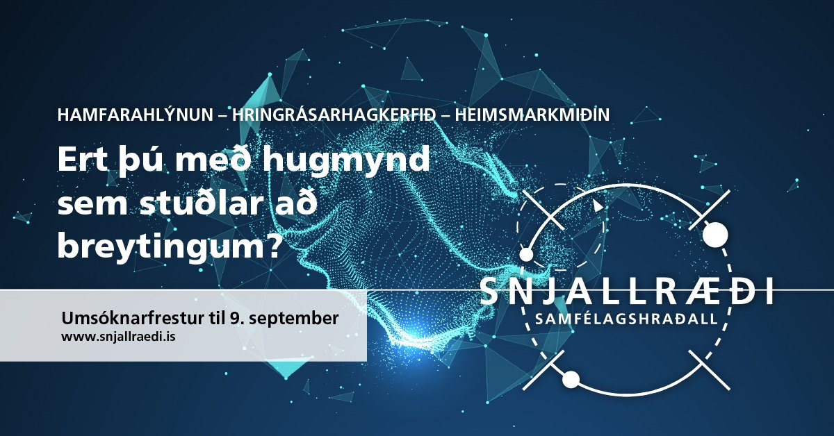 Snjallræði: Startup Social 2019 – applications close 9 September 2019
