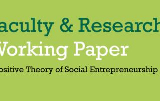 Social Entrepreneurship.