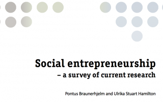Social entrepreneurship – a survey of current research