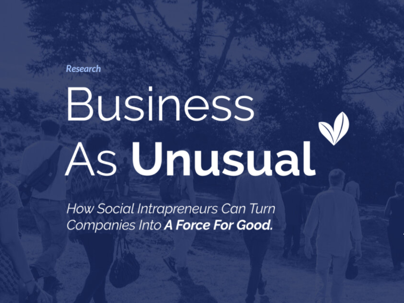 Social INTRApreneurs – How Do They Contribute To The Common Good?