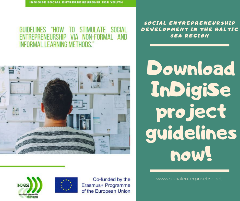 """Read the latest guidelines """"How to stimulate social entrepreneurship via non-formal and informal learning methods"""""""
